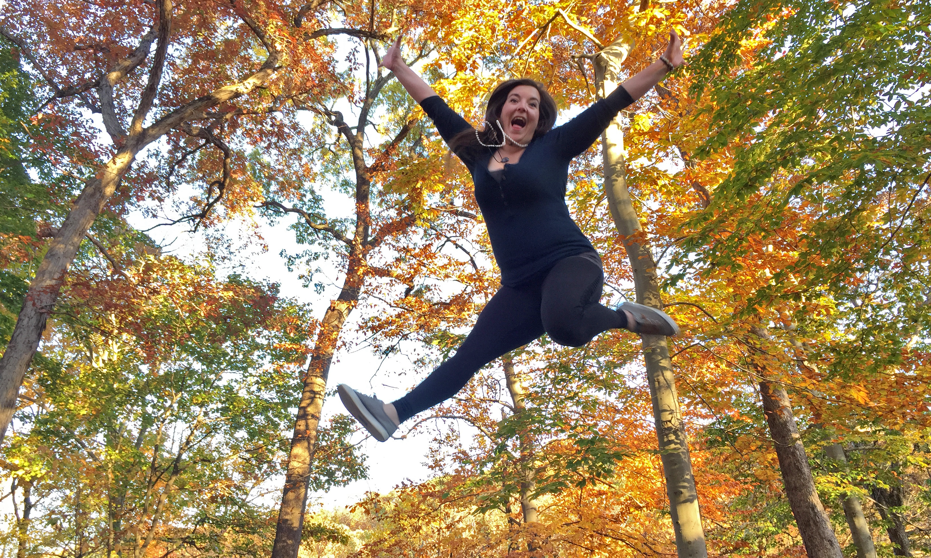 Sheila Jumping in Autumn